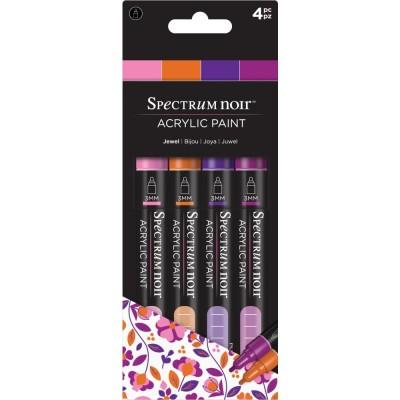 Crafter's Companion - Spectrum Noir marqueurs  «Peinture acrylique» couleurs «Jewel»
