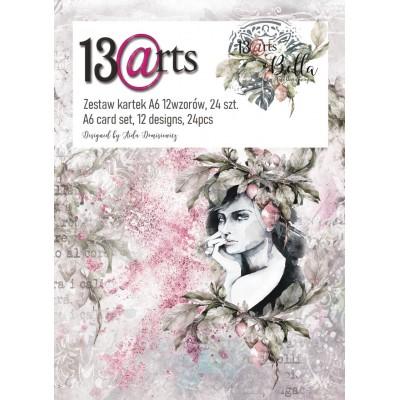 """13 Arts - Bloc de papier «Bella»  24 feuilles recto  4"""" X 6"""""""