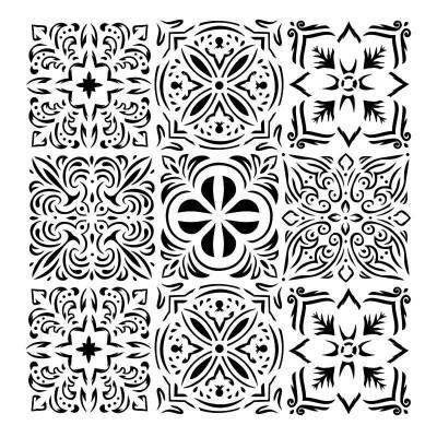 "13Arts - Stencil «Italian Floor-Bella» 6"" X 6"""