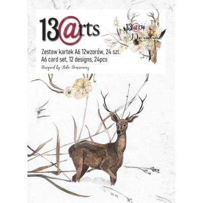 "13 Arts - Bloc de papier «Dreamland»  24 feuilles recto  4"" X 6"""