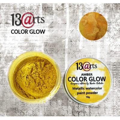 13 Arts - Peinture aquarelle métallisée «Color Glow Amber»