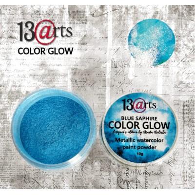 13 Arts - Peinture aquarelle métallisée «Color Glow Blue Saphire»