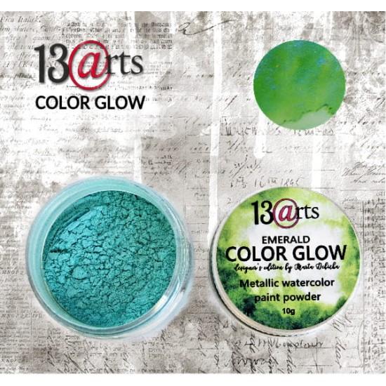 13 Arts - Peinture aquarelle métallisée «Color Glow Emerald»