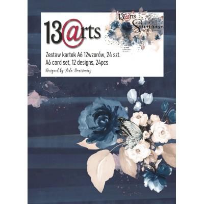 """13 Arts - Bloc de papier «Sunrise»  24 feuilles recto  4"""" X 6"""""""