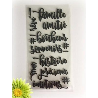 Simple à souhait - Autocollant en mousse «Famille» 13 pièces