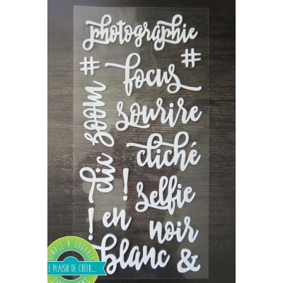 Simple à souhait - Autocollant en mousse «Photographies» 15 pièces