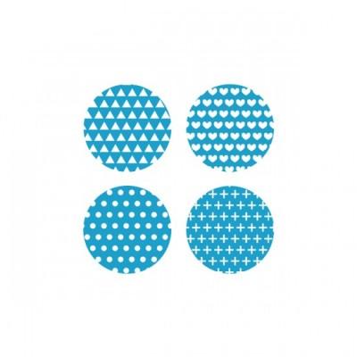 Scrap Fimo - Badges aqua