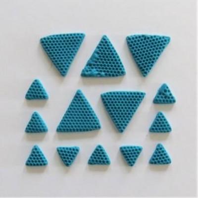 Scrap Fimo - Triangles en fimo aqua