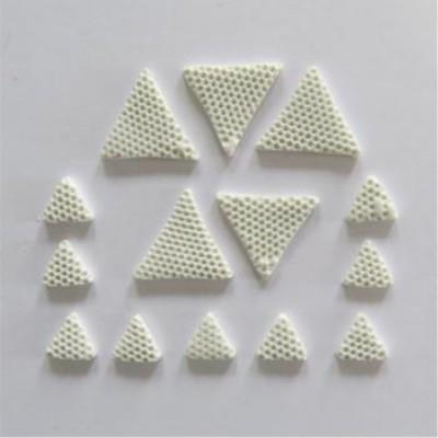 Scrap Fimo - Triangles en fimo blanc