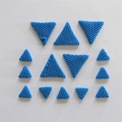 Scrap Fimo - Triangles en fimo Bleu