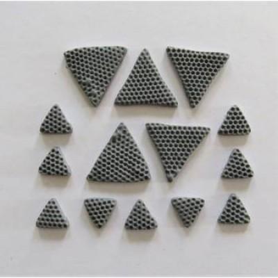 Scrap Fimo - Triangles en fimo gris