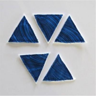 Scrap Fimo - Triangles textiles Bleus «AVT1»