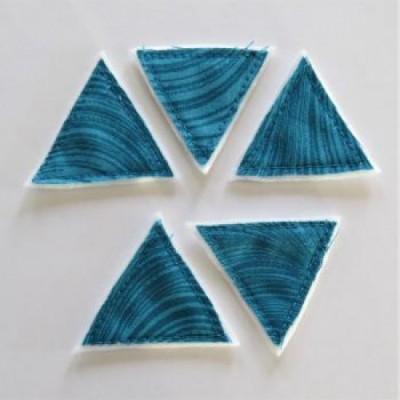 Scrap Fimo - Triangles textiles Aqua «AVT25»