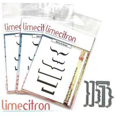 Lime Citron - Die modèle «Accolades» 6 pcs