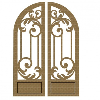 Creative Embellishments - Chipboard  «Arched Doors set 2»