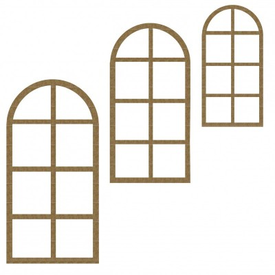 Creative Embellishments - Chipboard  «Arched Windows»