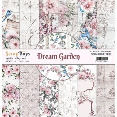 """ScrapBoys - Ensemble de papier «Dream Garden» 12""""X12"""" de 12 feuilles recto-verso"""