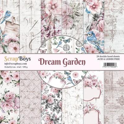"""ScrapBoys - Ensemble de papier «Dream Garden» 6""""X6"""" de 24 feuilles recto-verso"""