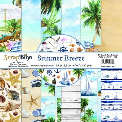 """ScrapBoys - Ensemble de papier «Summer Breeze» 6""""X6"""" de 24 feuilles recto-verso"""