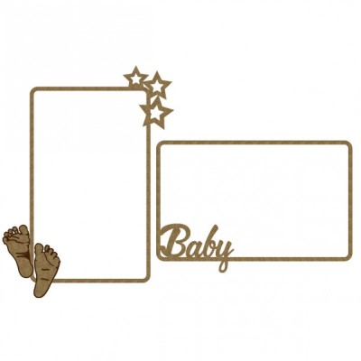 Creative Embellishments - Chipboard «Baby frame set» 2 pièces