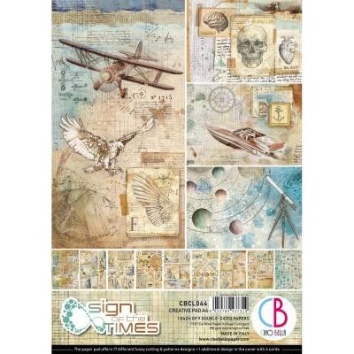 """PRÉCOMMANDE- Ciao Bella - Collection de papier 8.3"""" x 11.7""""  «Sign Of The Times» 9 feuilles recto-verso"""