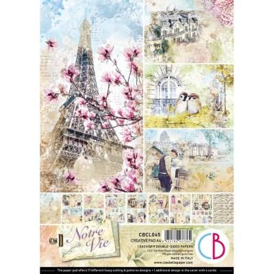 "PRÉCOMMANDE- Ciao Bella - Collection de papier 8.3"" x 11.7""  «Notre vie» 9 feuilles recto-verso"