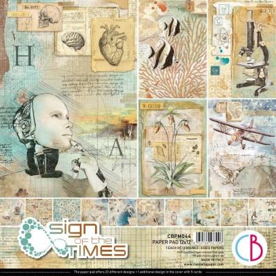 """PRÉCOMMANDE- Ciao Bella - Collection de papier 12"""" X 12""""  « Sign Of The Times» 12 feuilles recto-verso"""