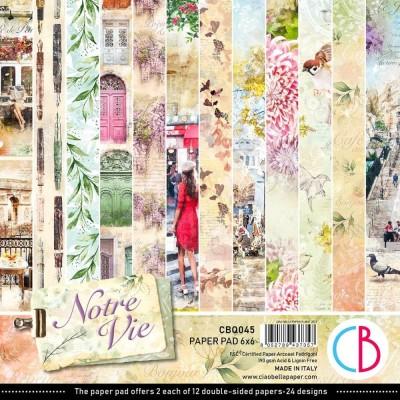"PRÉCOMMANDE- Ciao Bella - Collection de papier «Notre vie»  6"" X 6"" recto-verso 24 feuilles"
