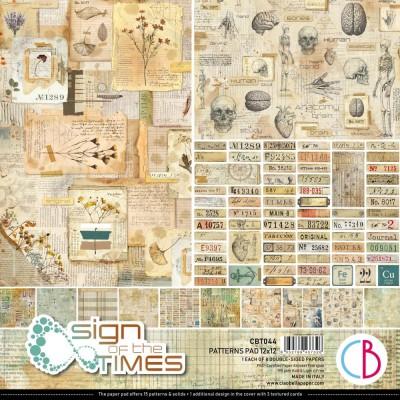 """PRÉCOMMANDE- Ciao Bella - Collection de papier 12"""" X 12"""" recto-verso 8 feuilles «Sign Of The Times»"""