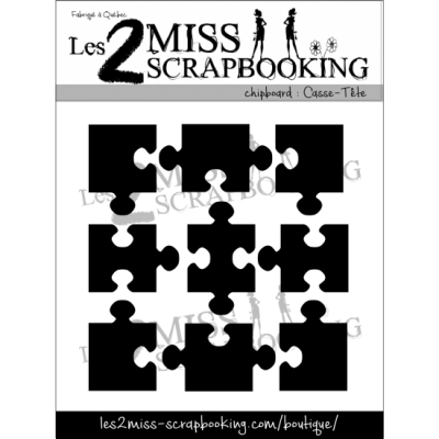 Les 2 Miss scrapbooking - Chipboard «Casse-tête»