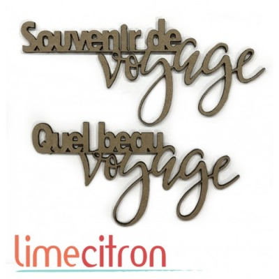 Lime Citron - Chipboard «Voyage»