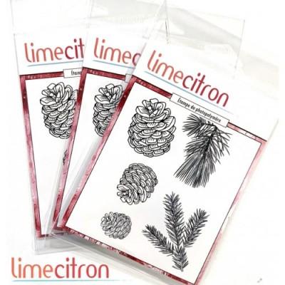 Lime Citron - estampe ensemble «Cocottes» 5 pièces
