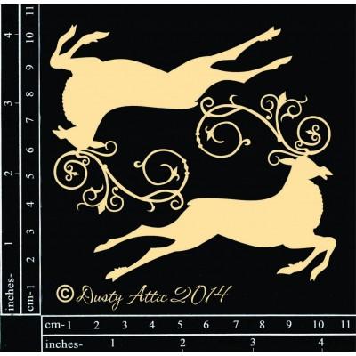 Dusty Attic - Chipboard «Reindeer»