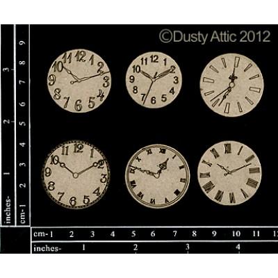 Dusty Attic - Chipboard  «mini Clock Faces»