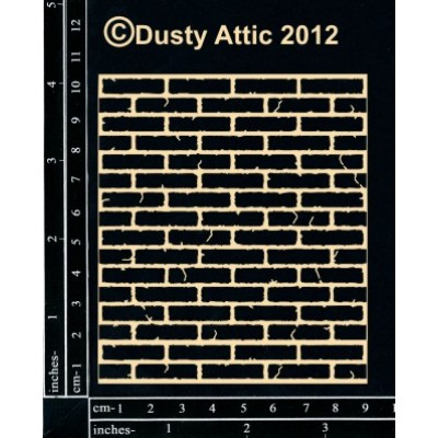 Dusty Attic - Chipboard  «Mini brick wall»