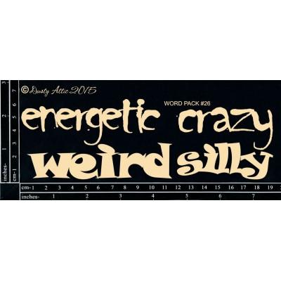 Dusty Attic - Chipboard  «Word Pack #26»