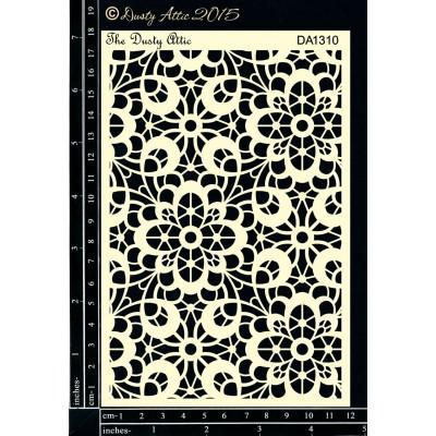 "Dusty Attic - Stencil 4"" X 6"" modèle «Lace Stencil»"