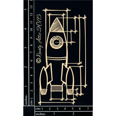 Dusty Attic - Chipboard «Blueprint Rocket»