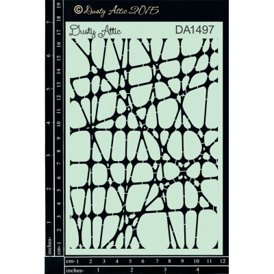 "Dusty Attic - Stencil 4"" X 6"" modèle «Webbing #2»"