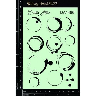 "Dusty Attic - Stencil 4"" X 6"" modèle «Glass Stains»"
