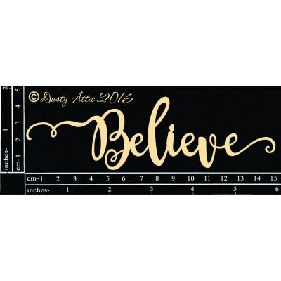 Dusty Attic - Chipboard «Believe #2»