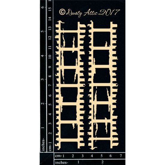 Dusty Attic - Chipboard  «Distressed Filmstrip»