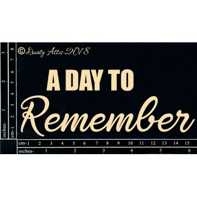Dusty Attic - Chipboard  «A day to remember»