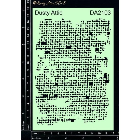 """Dusty Attic - Stencil 4"""" X 6"""" modèle «Burlap »"""