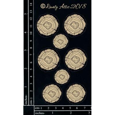 Dusty Attic - Chipboard  «Wood Slices»
