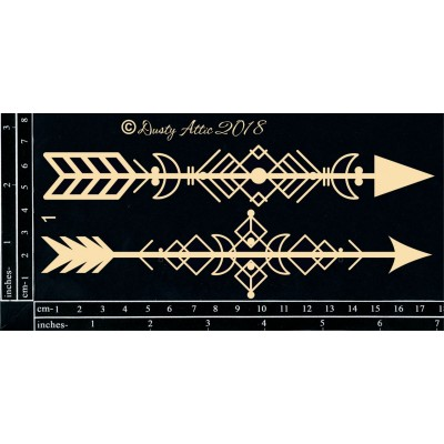 Dusty Attic - Chipboard  «Geo Tribal Arrows #1»