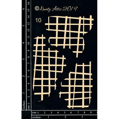 Dusty Attic - Chipboard «Broken Bits #10 – Grid #2»