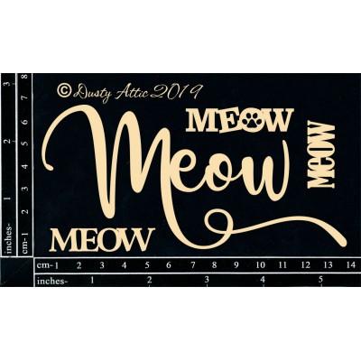 Dusty Attic - Chipboard  «Meow»