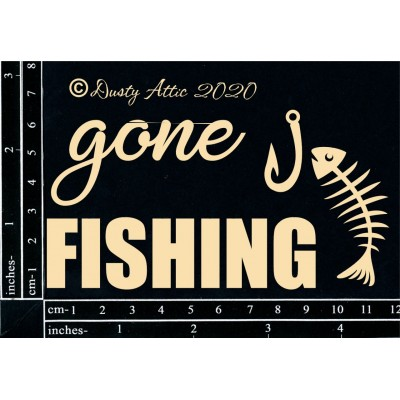 Dusty Attic - Chipboard «Gone Fishing»