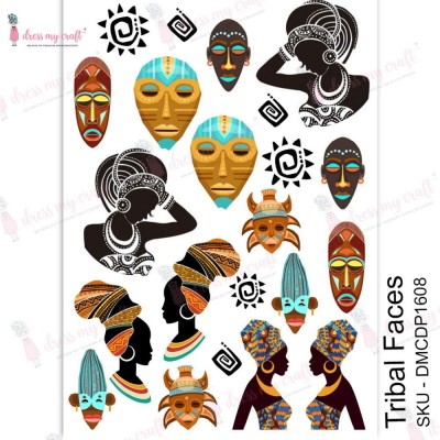 Dress my Craft - Transfer Me «Tribal Faces»